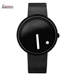 Dot Line Dress Australia - cool Minimalist style wristwatch Stainless Steel creative design Dot and Line simple stylish quartz fashion watch S914