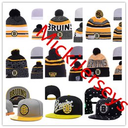 Snapbacks Boston Canada - Boston Bruins Snapback Caps Adjustable Hat Knit Hat Embroidery Boston Bruins beanies Caps one size fit most