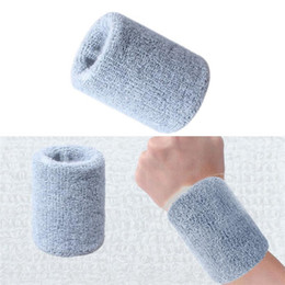 Wholesale Quality Cotton Wristbands Prevent Sweating Solid Color Wrist Band Bands Sweatbands Unisex Sweat Band For Sport Tennis #20