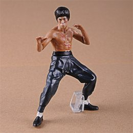 Discount kung fu figures - 4pcs PVC Cool Bruce Lee Kung Fu Action Figures Toy Popular Garage Kit Toy Collection Model Toys Dolls 26 5ym WW