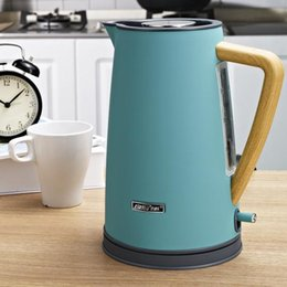 $enCountryForm.capitalKeyWord NZ - 1800W Stainless Steel Electric Kettle with Wooden Plastic Handle 1.7L Water Boiler 304 Food Grade SS Heating Water in 5 Minutes