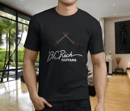 Toptan satış Yeni Popüler BC Zengin Gitarlar Beast Müzik erkek Siyah T-Shirt S-3XL
