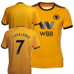 0cc0f0335 2018 2019 ADULT HOME SHIRT Wolverhampton Wanderers Customized Top Thai  Quality Soccer Jerseys Diogo Jota Leo Costa WOLVES FC Football Shirt