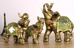Discount pink elephant art - Lucky Feng Shui Elegant Elephant Trunk Statue Lucky Wealth Figurine Crafts Ornaments for Home Office Desktop Decor Gift