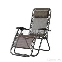 Vente en gros Extérieur Casual Time Pliable Chaise Longue Pour Bureau Pratique Plage Dossier Chaises Portable Lit En Plein Air Pêche Utilisez 85ds ZZ
