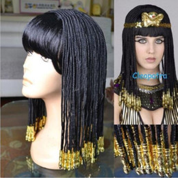 Discount cosplay cleopatra Egyptian Cleopatra Nightclub Show Costume Cosplay Party Wig Hair