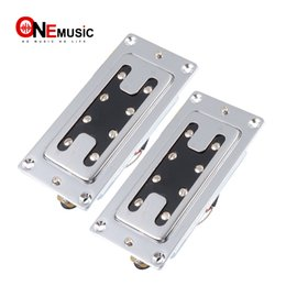 $enCountryForm.capitalKeyWord NZ - A Set Mini Style Two Line 8 Hole 4 String Electric Bass Humbucker Pickup Chrome