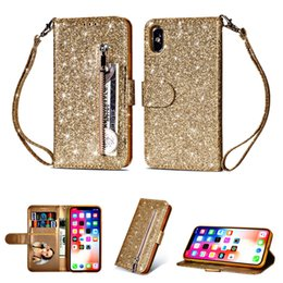 $enCountryForm.capitalKeyWord UK - Protective PU Leather Flip Wallet Case With Card Holders Coin Purse Bling Phone Cases for iphone xs max xr 8 7 6s Plus Samsung Note9 Stand