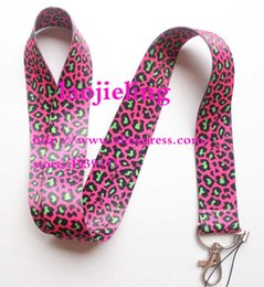 $enCountryForm.capitalKeyWord NZ - NEW Leopard print Popular Cell Phone Straps Lanyard Necklace Chain String E-Cigarette Phone camera ID card Rope lanyards B-08