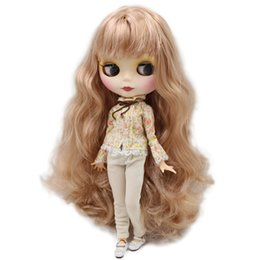 $enCountryForm.capitalKeyWord UK - Dolls Accessories Dolls ICY Blyth Nude Doll For Series No. BL3227 1010 Blonde mix pink hair with bangs Matte face Joint body Suitable