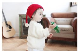 CroChet elf hats online shopping - Elf Winter Cotton Beanie Caps for Child Handmade Knit Crochet Hats Cute Candy Color Hats for Kids Photography Props Christmas Decoration
