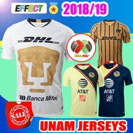 New Arrived 2018 Mexico Club UNAM Home White Away Gold Soccer Jerseys 18 19  Tigres UNAL Van Rankin Castillo Chivas Football Shirts 05ea886b9