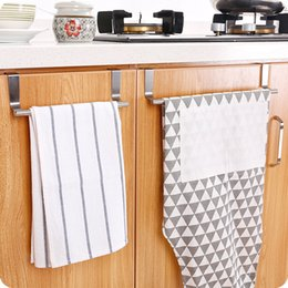 rod bathroom Canada - 2 Sizes Home Garden Kitchen Multi-purpose Stainless Steel Single Rod Towel Rack Storage Holders Tools 3920