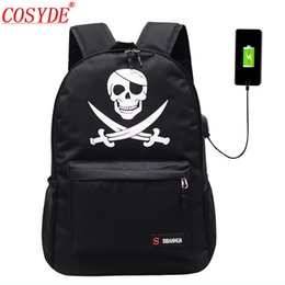 Discount anime laptop - Cosyde Student School Backpack Anime Luminous Laptop Computer Backpack For USB Boys School Bag Travel Girl Animation Kna