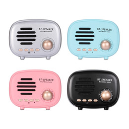 Wireless Multimedia Player Australia - Classic retro Mini Portable subwoofer Wireless multimedia Radio Bluetooth Speaker U disk TF Handsfree for iphone Samsung Xiaomi