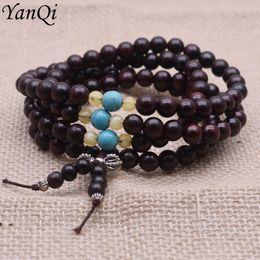 501775b51bdb 8 mm de madera natural pulseras de moda budista cuentas de oración mala  pulseras collar hombres mujeres largo brazalete regalo de la religión al  por mayor