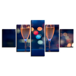 $enCountryForm.capitalKeyWord UK - Home Decor Living Room Modern Framework Wall Art 5 Pieces Wine Cup Paintings Modular Poster Canvas Pictures Artworks HD Printing Y18102209