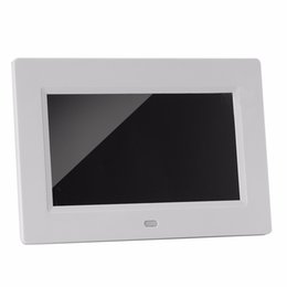 video digital picture frame 2018 - EU US Plug 7 Inch 800 x 480 High Resolution Digital Photo Frame Picture Album Calendar Video Movie Player with Remote Co