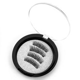 $enCountryForm.capitalKeyWord UK - 3 Magnetic Eye Lashes 3D Mink Full Strip Lashes Reusable Magnet False Eyelashes Extension Thick Long False eyelashes with box 4pcs=1set