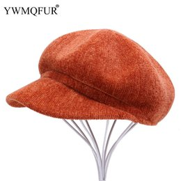 $enCountryForm.capitalKeyWord UK - Beret Female Male Flat Cap Autumn Winter Hats For Women Men Fashion Solid Vintage Ladies Warm Caps England Artist New Arrival