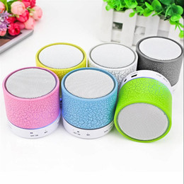 Iphone Stereo Player Australia - LED Bluetooth Speaker Wireless Portable Speaker LED A9 Subwoofer Stereo Player for IOS Android Phone for iphone 6 6s 7 7 plus 8 plus X XR XS