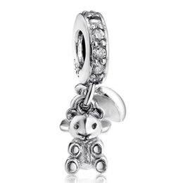 $enCountryForm.capitalKeyWord Australia - Mother's Day Gift Baby Treasures Hanging Charms 925 Sterling Silver Enamel Heart Pacifier Teddy Bear Beads For Charm Bracelets Jewelry