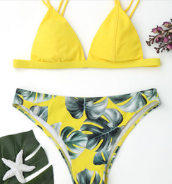 18421b98975 Sexy Bikinis Set Women Printing Swimsuit Swimwear Bathing Suit Ladies Bikini  Monokini Maillot De Bain Femme Hot Sale Two Pieces