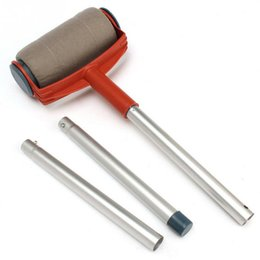 roller sets UK - Decorative Flexibility Aluminum Paint Pro Revolutionized Paint Roller Brush Household Wall Tool Sets