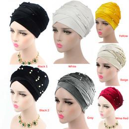 Or Perlé Maille Head Wrap Velours Headscarf Turbante De Luxe Masse Nigérian Turban Femmes Hijab Extra Long Foulard
