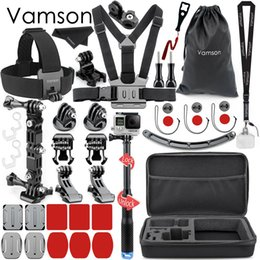 Wholesale Vamson Helmet Accessories for Gopro Hero Set4 Way Adjustable Pivot Arms Mount Monopod for YI for YI K SJCAM VS151B