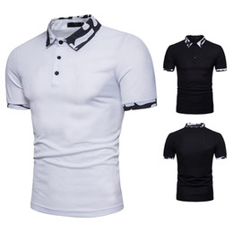 Wholesale high quality loose white t shirt for sale – custom Casual Shirts Camouflage New Fashion Short Sleeve Polos Black White Cotton Loose Top Tee t shirts Men Clothing High Quality