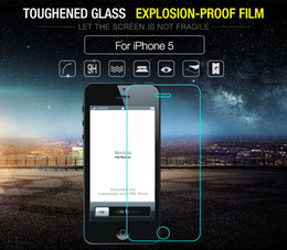 Iphone Glass Screen Guard Australia - For iphone 5 5S Tempered Glass Screen Protector For Apple iPhone SE Glass For iPhone 5C Screen Front Film Guard Explosion Proof