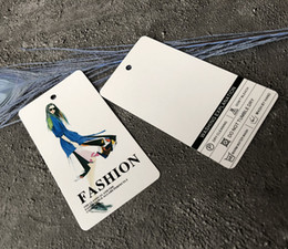Wholesale Apparel Hang Tags UK - Wholesale Full Printing 400 gsm White Paper Hang Tag Swing Tag For Jewelry Accessories Paper Tag