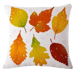 $enCountryForm.capitalKeyWord UK - Customized European Leaf Decoration Sofa Cushion Cotton-linen Pillow Cover Without Pillow Core Decoration throw pillows cushion covers