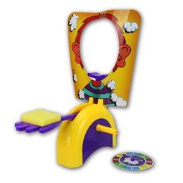China Pie Face Cream Smashing Machine Novel Tricky Desktop Interactive Toy Leisure And Recreation Toys Gag Games Suit 18xy W cheap gagged game suppliers