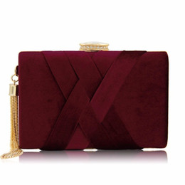 Wholesale Milisente New Arrival Women Clutch Bags Top Quality Suede Clutches Purses Ladies Tassels Evening Bag Wedding Clutches High Quality