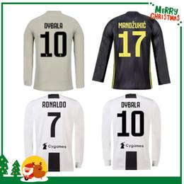 bc5b0678ccb Long sleeve 18 19 Juventus RONALDO DYBALA HIGUAIN POGBA soccer jersey 2018  2019 Italy juve MARCHISIO MANDZUKIC BUFFON home away 3rd shirt