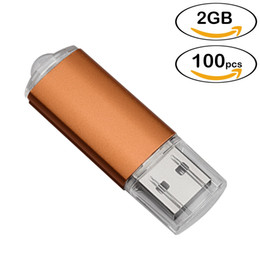 Thumb Flash Drive Australia - Wholesale 100pcs Rectangle USB Flash Drives 2GB Flash Pen Drive High Speed 2gb Thumb Memory Stick Storage for PC Laptop Tablet Multicolors