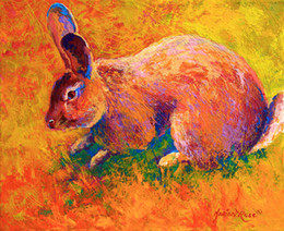 $enCountryForm.capitalKeyWord Australia - YOUME ART Giclee Animal the urge to merge cottontail-i oil painting arts and canvas wall decoration art Oil Painting on Canvas 60X76cm