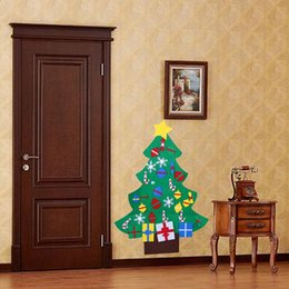 Discount hair wall decals - Christmas Tree Wall Stickers Removable DIY Art Decals Christmas Decoration for home Adesivos De Natal New Year Decoratio