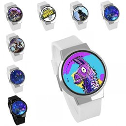 Fortnite Cartoon Watch Teenager Party Wrist Watches Big Children Jewelry 63 Colors Electronic Kids Birthday Gift