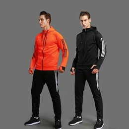 $enCountryForm.capitalKeyWord Canada - Sports Set Fitness Gym Training Soccer Suit Hooded Long Sleeve Tracksuit Sportswear Basketball Running Sets Men Jacket + Pants