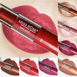 Mixing Red Purple Lipstick NZ - 24 Colors Long Lasting Matte Liquid Lipstick Moisturizer Waterproof Gloss Sexy Red Nude Lip Stick Makeup Tint Pigment Lipstick