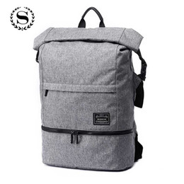 Discount laptop children - Large Capacity Travel Backpack Men Boys Student School Child Dry Wet Separation Laptop Bags Waterproof Korean Schoolbag