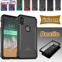 $enCountryForm.capitalKeyWord UK - Unicorn Beetle Case For iPhone X Hybrid Soft TPU + Hard Clear PC Protective Cover For iPhone 8 7 6 6S Plus Armor Case