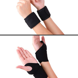 Magnet Support Australia - 1 Pair Adjustable Self-heating Warm Wrist Band Tourmaline Magnet Wrist Support Straps Wraps Black Sports Wristband For Gym pro