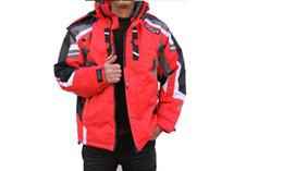 Atacado- 2016 ao ar livre sportwear jaqueta de esqui homens terno de esqui à prova de vento roupas de esqui à prova d 'água Frete Grátis venda quente