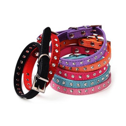 China Pet Dog Collar Colorful Pu leather for medium small dog Puppy strap dog accessories handmade Leashes Pet supplies suppliers
