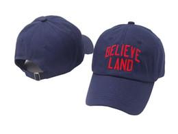 Discount land caps - Pottis Dad Hats Women Cap Hat Men BELIEVE LAND Cap  Female Male 2d61d7ebc3f