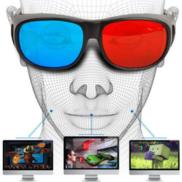 3d vision glasses online shopping - Universal Type D Glasses TV Movie Dimensional Anaglyph Video Frame D Vision Glasses DVD Game Glass Red And Blue Color
